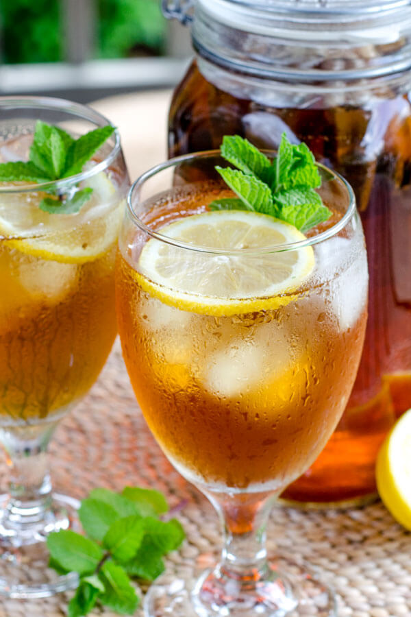 Recipe: Cold Brewed Iced Tea with Lemon & Mint : Club USA Blog